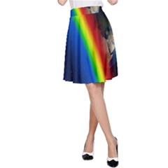 Rainbow Earth Outer Space Fantasy Carmen Image A Line Skirt