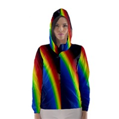 Rainbow Earth Outer Space Fantasy Carmen Image Hooded Wind Breaker (women)