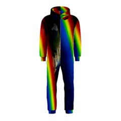 Rainbow Earth Outer Space Fantasy Carmen Image Hooded Jumpsuit (Kids)