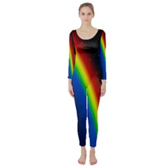 Rainbow Earth Outer Space Fantasy Carmen Image Long Sleeve Catsuit