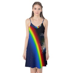 Rainbow Earth Outer Space Fantasy Carmen Image Camis Nightgown