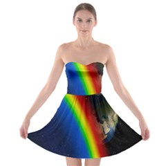 Rainbow Earth Outer Space Fantasy Carmen Image Strapless Bra Top Dress