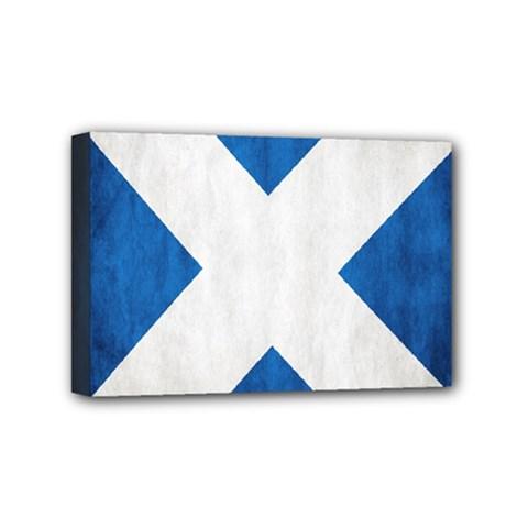 Scotland Flag Surface Texture Color Symbolism Mini Canvas 6  X 4