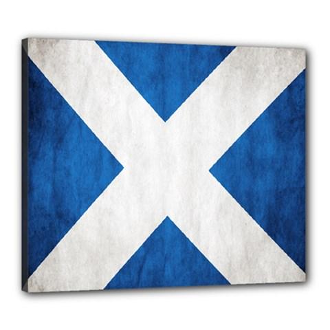 Scotland Flag Surface Texture Color Symbolism Canvas 24  X 20