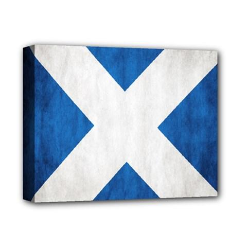 Scotland Flag Surface Texture Color Symbolism Deluxe Canvas 14  x 11