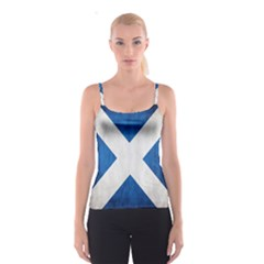 Scotland Flag Surface Texture Color Symbolism Spaghetti Strap Top