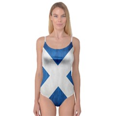 Scotland Flag Surface Texture Color Symbolism Camisole Leotard