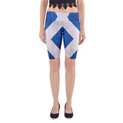 Scotland Flag Surface Texture Color Symbolism Yoga Cropped Leggings