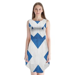 Scotland Flag Surface Texture Color Symbolism Sleeveless Chiffon Dress