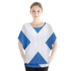 Scotland Flag Surface Texture Color Symbolism Blouse