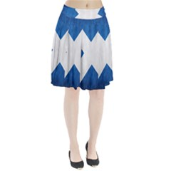 Scotland Flag Surface Texture Color Symbolism Pleated Skirt