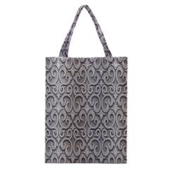 Patterns Wavy Background Texture Metal Silver Classic Tote Bag
