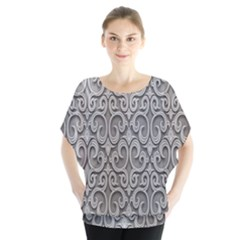 Patterns Wavy Background Texture Metal Silver Blouse