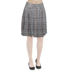 Patterns Wavy Background Texture Metal Silver Pleated Skirt