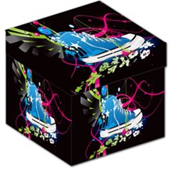 Sneakers Shoes Patterns Bright Storage Stool 12