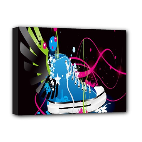 Sneakers Shoes Patterns Bright Deluxe Canvas 16  X 12