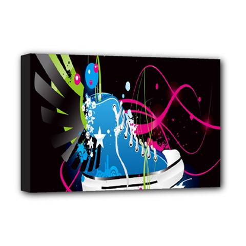 Sneakers Shoes Patterns Bright Deluxe Canvas 18  x 12