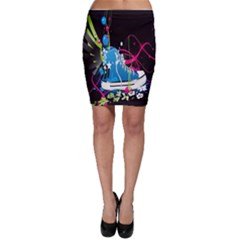 Sneakers Shoes Patterns Bright Bodycon Skirt