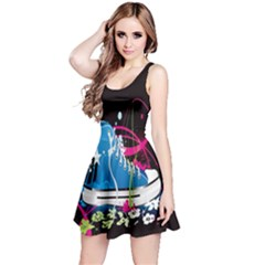 Sneakers Shoes Patterns Bright Reversible Sleeveless Dress