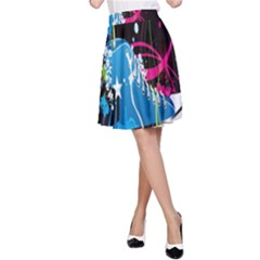 Sneakers Shoes Patterns Bright A-Line Skirt