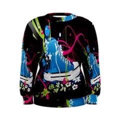 Sneakers Shoes Patterns Bright Women s Sweatshirt
