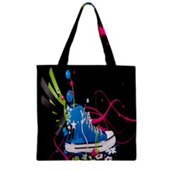 Sneakers Shoes Patterns Bright Zipper Grocery Tote Bag
