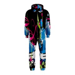 Sneakers Shoes Patterns Bright Hooded Jumpsuit (Kids)