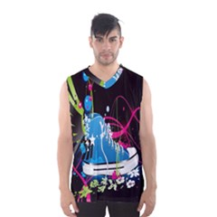 Sneakers Shoes Patterns Bright Men s Basketball Tank Top