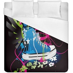 Sneakers Shoes Patterns Bright Duvet Cover (king Size)