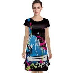 Sneakers Shoes Patterns Bright Cap Sleeve Nightdress