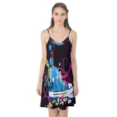 Sneakers Shoes Patterns Bright Camis Nightgown