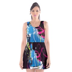 Sneakers Shoes Patterns Bright Scoop Neck Skater Dress