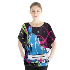 Sneakers Shoes Patterns Bright Blouse