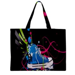 Sneakers Shoes Patterns Bright Medium Zipper Tote Bag