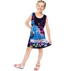 Sneakers Shoes Patterns Bright Kids  Tunic Dress