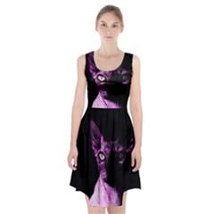 Pink Sphynx cat Racerback Midi Dress