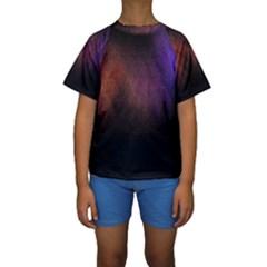 Point Light Luster Surface Kids  Short Sleeve Swimwear