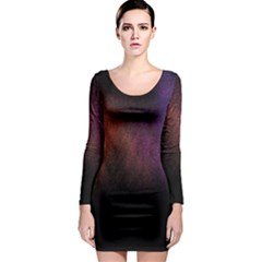 Point Light Luster Surface Long Sleeve Bodycon Dress