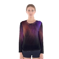 Point Light Luster Surface Women s Long Sleeve Tee