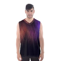 Point Light Luster Surface Men s Basketball Tank Top