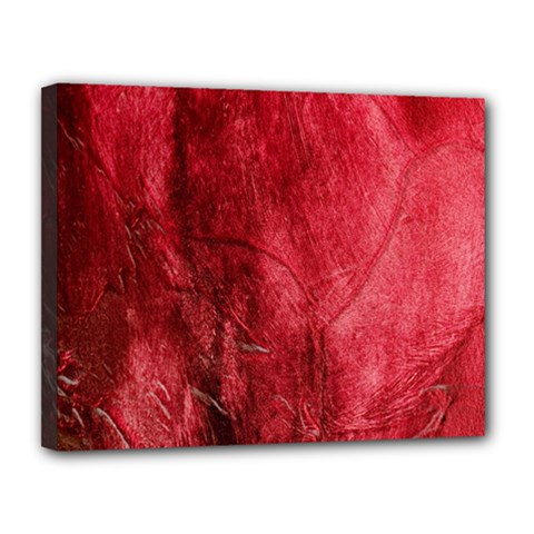 Red Background Texture Canvas 14  X 11