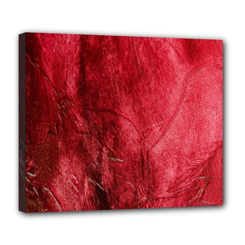 Red Background Texture Deluxe Canvas 24  x 20