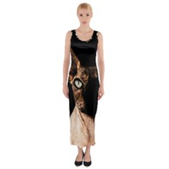 Sphynx cat Fitted Maxi Dress