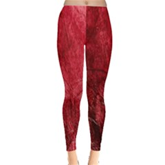Red Background Texture Leggings