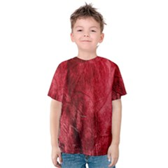 Red Background Texture Kids  Cotton Tee
