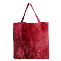 Red Background Texture Grocery Tote Bag