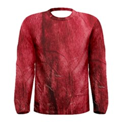 Red Background Texture Men s Long Sleeve Tee