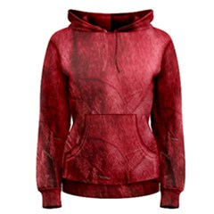 Red Background Texture Women s Pullover Hoodie