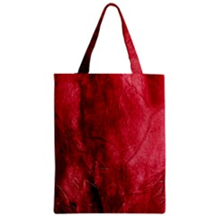 Red Background Texture Zipper Classic Tote Bag
