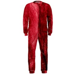 Red Background Texture OnePiece Jumpsuit (Men)